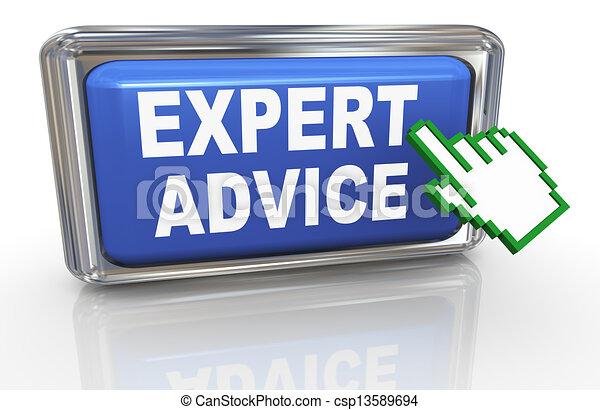 cursor, consejo, 3d, experto, mano - csp13589694