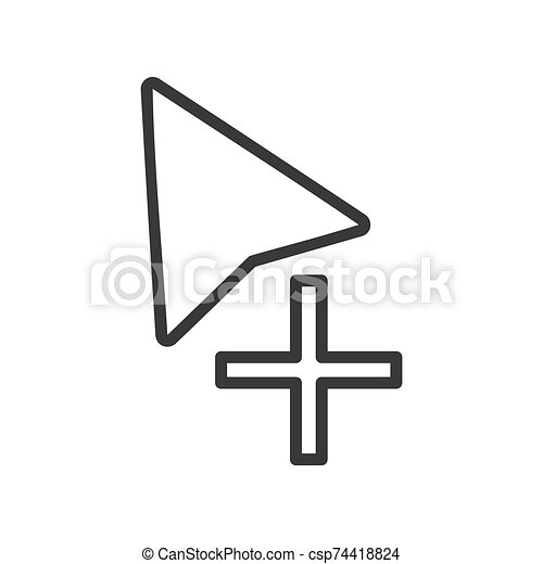 cursor, copia, vector, símbolo, ratón - csp74418824