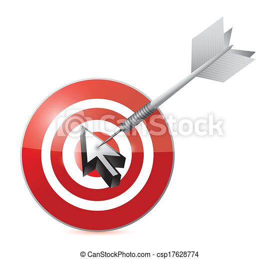 Diseño de ilustración de objetivos - csp17628774