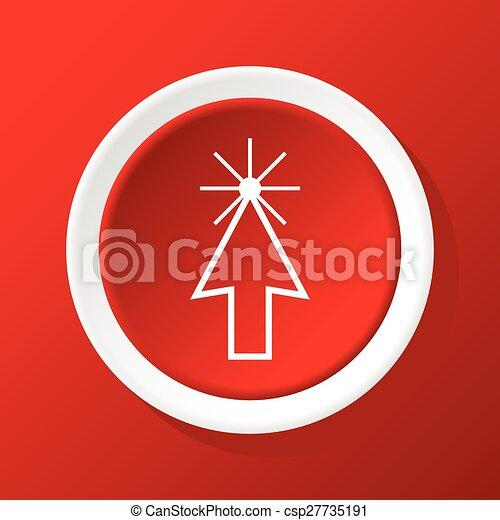 icono del curso de flecha en rojo - csp27735191