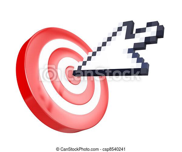 Flecha rápida alcanza el objetivo - csp8540241