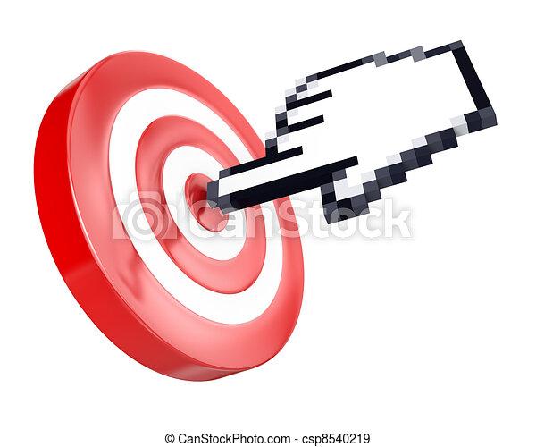 La velocidad de la mano alcanza el objetivo - csp8540219