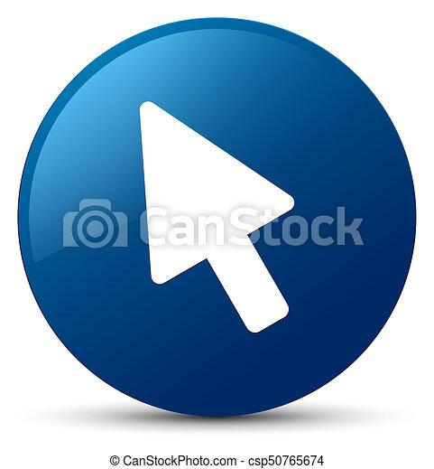 Cursor icon blue round button - csp50765674