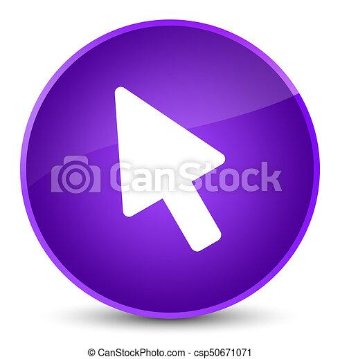 Cursor icon elegant purple round button - csp50671071