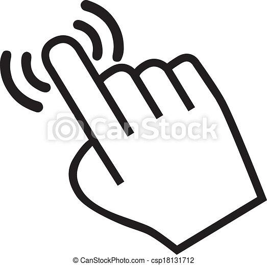 Maldito icono de mano - csp18131712