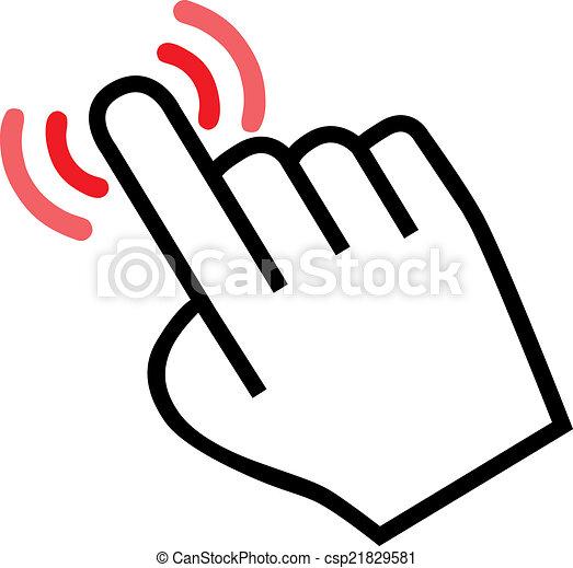 Maldito icono de mano - csp21829581