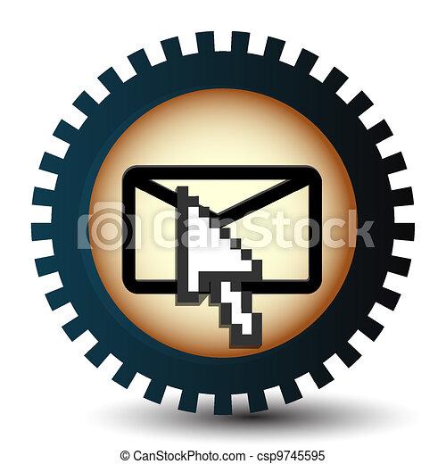 Ratón de mano en movimiento, icono del vector - csp9745595
