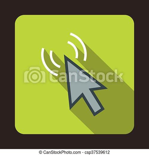 Click con icono superficial, estilo plano - csp37539612