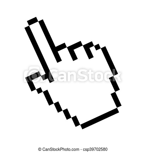 cursor pointer mouse click hand direction selection vector illustration rh canstockphoto com vector cursor css vector cursor css