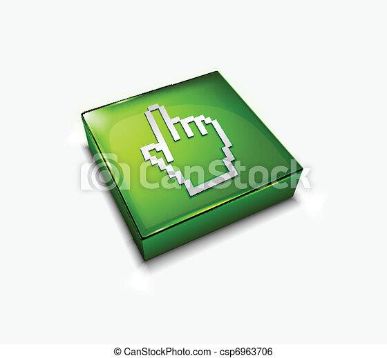 Un icono superficial de la red - csp6963706