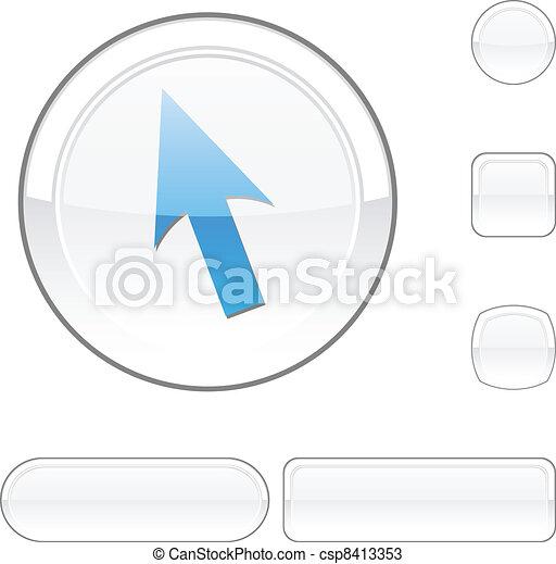 Cursor white button. - csp8413353
