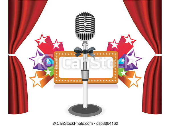 Curtains with microphone  - csp3884162