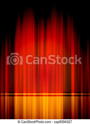 curtian, oświetlenie, teatr, czerwony - csp9394327