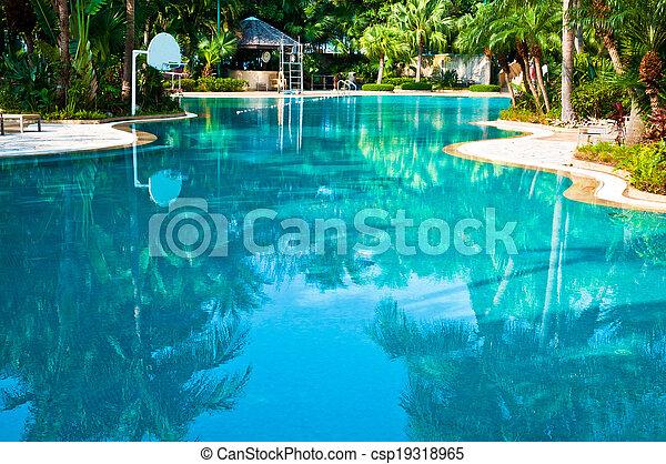 curvado, ool, swimmingp - csp19318965