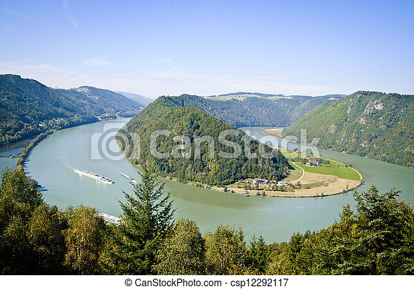 Curve of Danube River - csp12292117