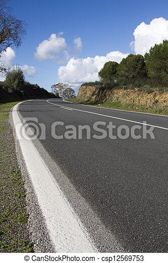 curved asphalt road - csp12569753