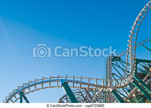curved coaster construction - csp6723660