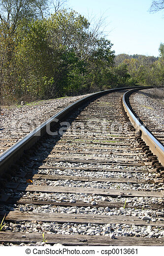 Curved railway track - csp0013661