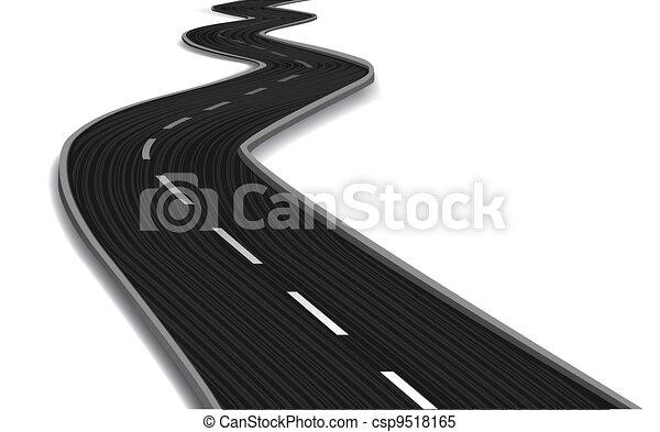 Puente curvado. Vector - csp9518165