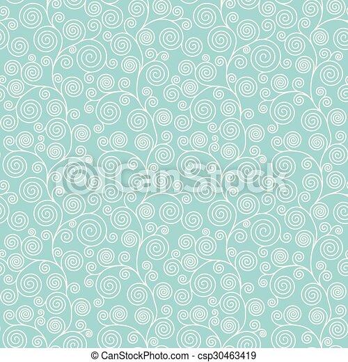 curvy, motívum, seamless, spirál - csp30463419