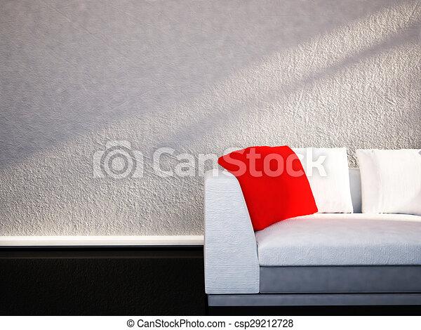Divano Rosso Cuscini : Cuscino divano rosso redering cuscino divano rosso