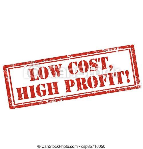 custo, baixo, profit-stamp, alto - csp35710050
