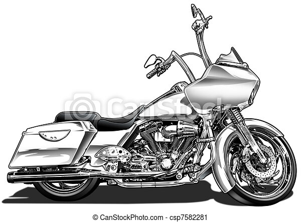 Custom Bagger Motorcycle - csp7582281