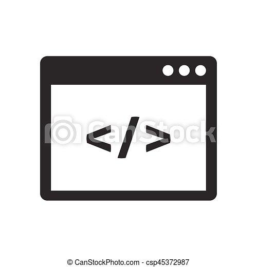 Custom coding icon - csp45372987