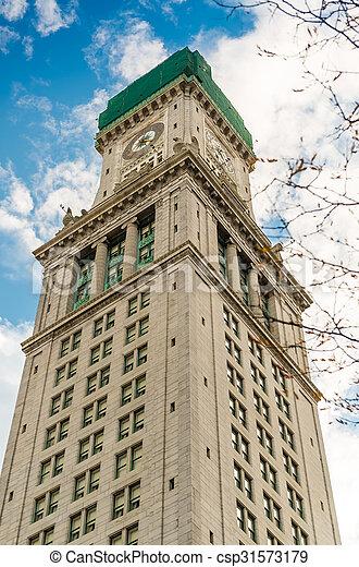 Custom House Tower, Boston - csp31573179