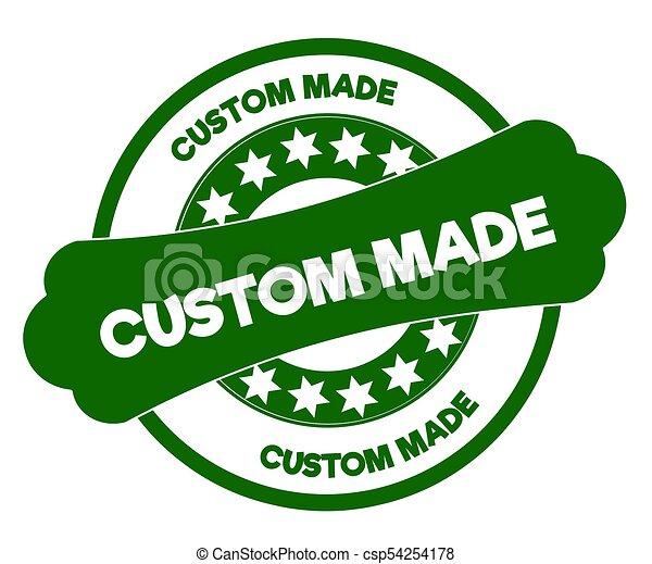 Custom made green stamp csp54254178