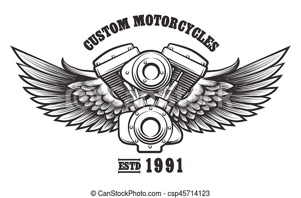 Motorcycle Engine Clip Art