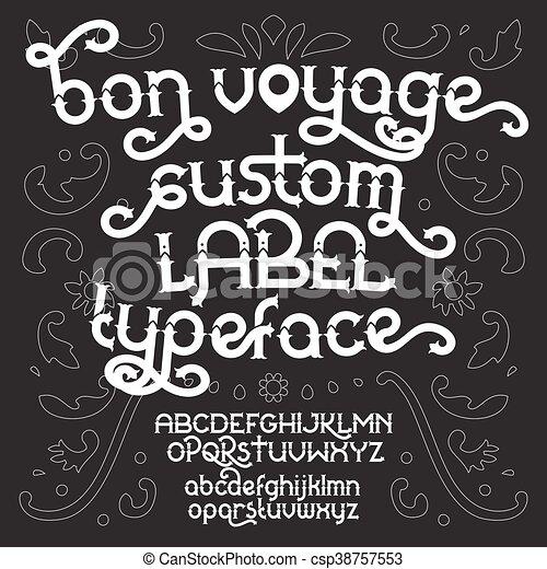 Custom retro typeface Bon Voyage - csp38757553