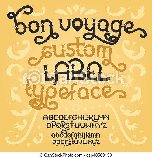 Custom retro typeface Bon Voyage - csp40563150