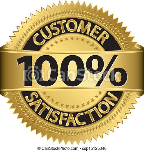 Customer 100 percent satisfaction g - csp15125348
