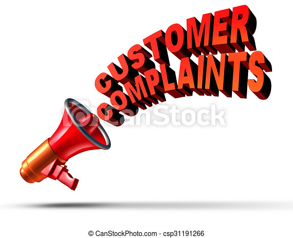 customer complaints business symbol as a megaphone or stock rh canstockphoto com clipart customer satisfaction customers clip art