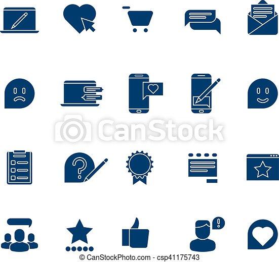 Customer Experience User Rating Testimonials Vector Icons Set