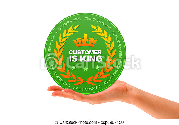 Customer Is King - csp8907450