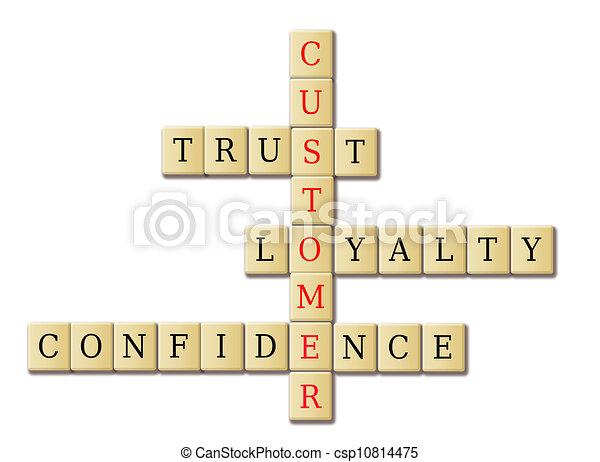 Customer loyalty crossword - csp10814475