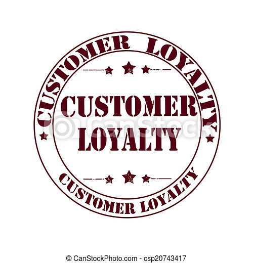 Customer Loyalty Stamp Grunge With On Vector