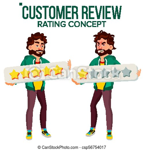 customer review vector happy and unhappy man user vector clip rh canstockphoto ie