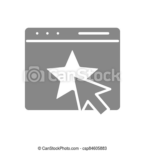 Customer satisfaction email, webpage with star grey icon. Feedback, online voting symbol - csp84605883