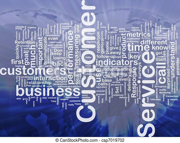 Customer service background concept - csp7019702