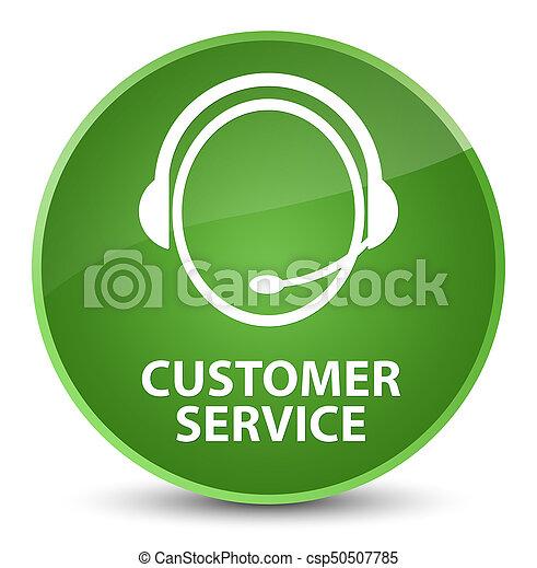 Customer service customer care icon elegant soft green round customer service customer care icon elegant soft green round button csp50507785 publicscrutiny Choice Image