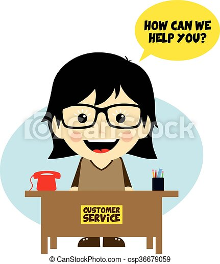 customer service desk cartoon character theme vector art clipart rh canstockphoto co uk customer service clipart images free customer service clipart and graphics