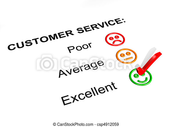 Customer Service Excellent Rating - csp4912059