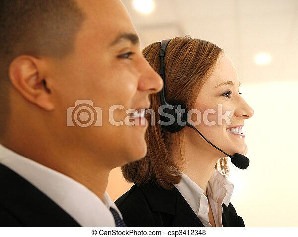 Customer Service On Meeting - csp3412348