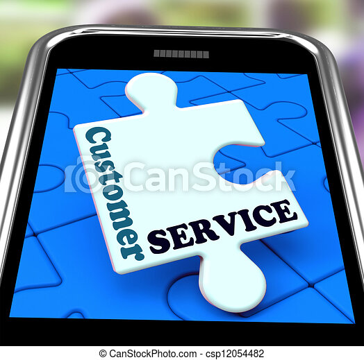 Customer Service On Smartphone Showing Online Support - csp12054482