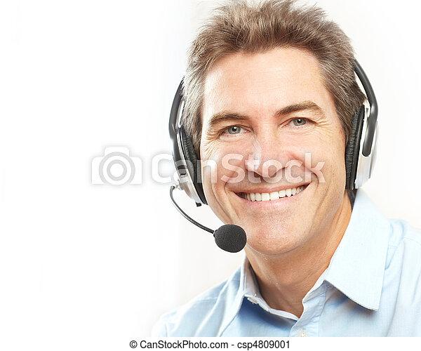 customer service operator. - csp4809001