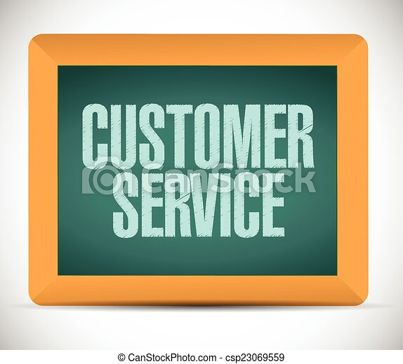 customer service sign on a board. - csp23069559