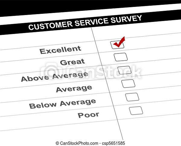 Customer service survey form - csp5651585